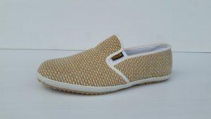 รองเท้าผ้าเพื่อสุภาพ ผ้าฟูริ้วทอง